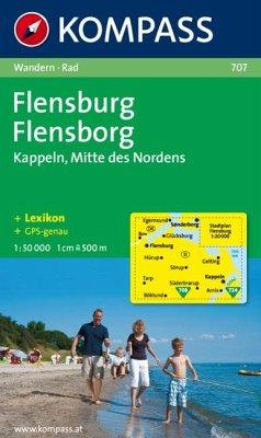 Kompass Karte Flensburg; Flensborg