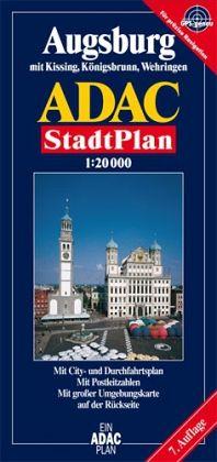ADAC StadtPlan Augsburg mit Kissing, Königsbrunn, Stadtbergen und Wehringen