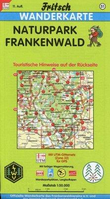 Fritsch Karte - Naturpark Frankenwald