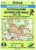 Fritsch Karte - Nationalpark Bayerischer Wald, Südlicher Teil