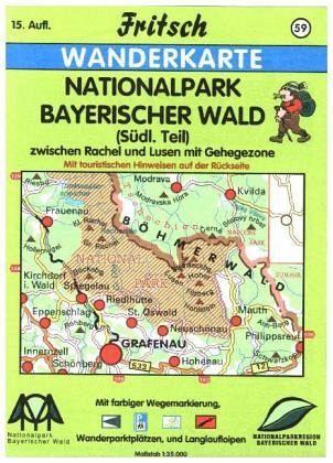 Nationalpark Bayerischer Wald Karte.Fritsch Karte Nationalpark Bayerischer Wald Südlicher Teil
