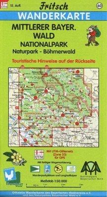 Fritsch Karte - Mittlerer Bayerischer Wald, Nat...