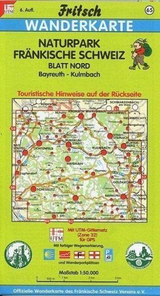 Fränkische Schweiz Karte.Fritsch Karte Naturpark Fränkische Schweiz Blatt Nord