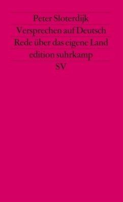 Versprechen auf Deutsch - Sloterdijk, Peter