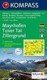 Kompass Karte Mayrhofen, Tuxer Tal, Zillergrund