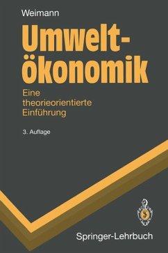 Umweltökonomik - Weimann, Joachim