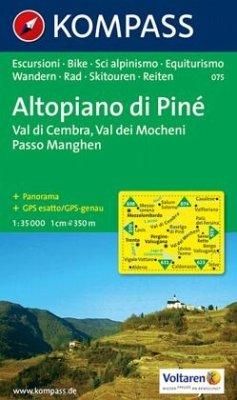 Kompass Karte Altopiano di Pine