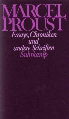 Essays, Chroniken und andere Schriften - Proust, Marcel