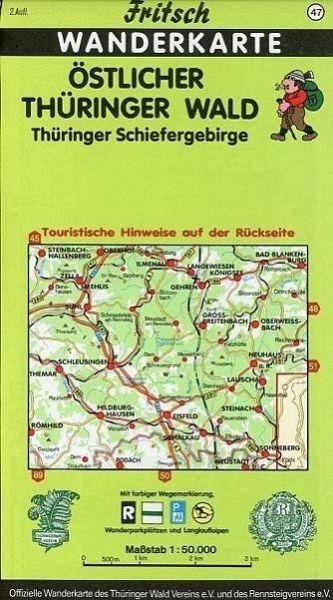 Thüringer Wald Karte.Fritsch Karte östlicher Thüringer Wald