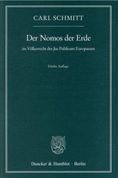 Der Nomos der Erde im Völkerrecht des Jus Publi...