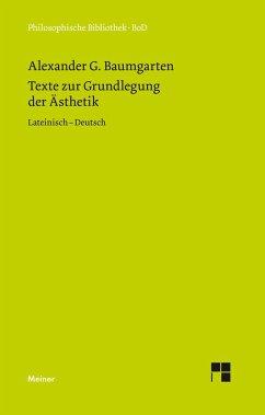 Texte zur Grundlegung der Ästhetik