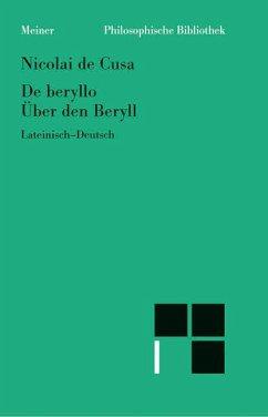 Über den Beryll. De beryllo - Nikolaus von Kues