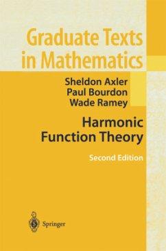 Harmonic Function Theory - Axler, Sheldon; Bourdon, Paul; Ramey, Wade