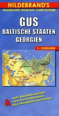 Hildebrand´s Urlaubskarte GUS, Baltische Staate...