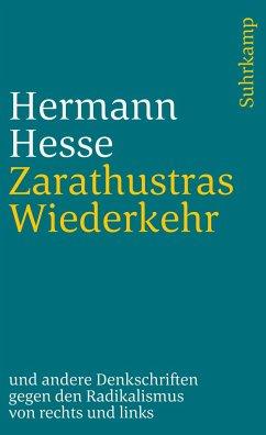 Zarathustras Wiederkehr - Hesse, Hermann