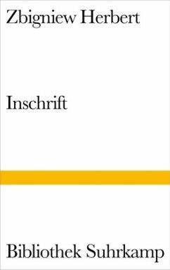 Inschrift - Herbert, Zbigniew