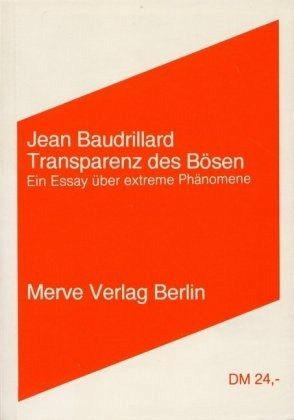 an essay on baudrillard Jean baudrillard, who died on 6 march 2007, had been writing an obituary for   of his essays and books (ʻanimals sick of surplus value', ʻcastrated before.