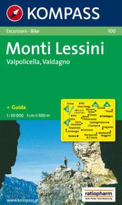 Kompass Karte Monti Lessini, Valpolicella, Valdagno