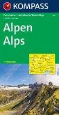 Kompass Panorama-Karte Alpen, Alps, Alpi, Alpes; Kompass Panorama-Karte Alps; Kompass Panorama-Karte Alpi. Kompass Panor