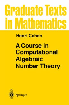 A Course in Computational Algebraic Number Theory - Cohen, Henri