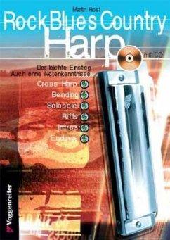 Rock Blues Country Harp, m. CD-Audio