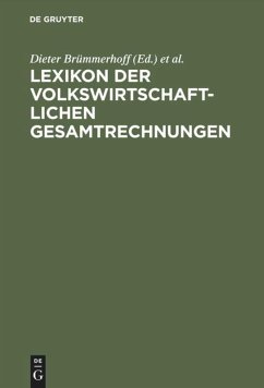 Lexikon der Volkswirtschaftlichen Gesamtrechnungen - Dieter Brümmerhoff / Heinrich Lützel (Hgg.)