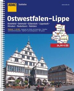 ADAC Stadtatlas Ostwestfalen-Lippe mit Bielefeld, Detmold, Gütersloh, Lippstadt, Minden, Paderborn, Rahden