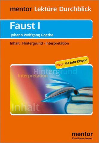 Johann Wolfgang V Goethe Faust I Buch Mit Info Klappe Von Andrea