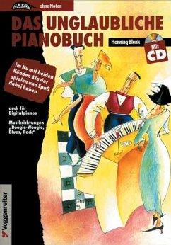 Das unglaubliche Pianobuch, m. CD-Audio
