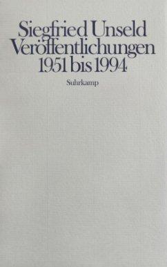 Veröffentlichungen 1951 bis 1994 - Unseld, Siegfried