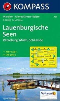 Kompass Karte Lauenburgische Seen