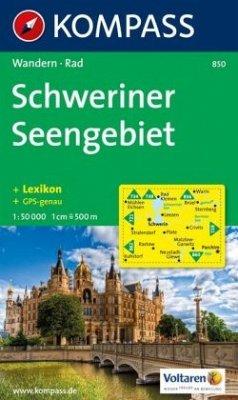 Kompass Karte Schweriner Seengebiet