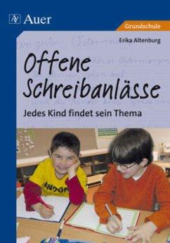 Offene Schreibanlässe - Altenburg, Erika