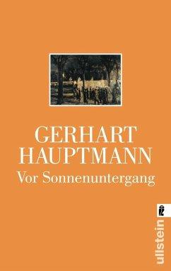 Vor Sonnenuntergang - Hauptmann, Gerhart