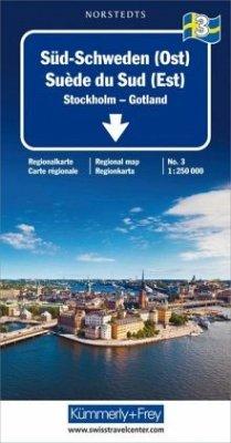 Kümmerly+Frey Karte Süd-Schweden (Ost) Regionalkarte; Suède du Sud (Est) / Southern Sweden (East) / Södra Sverige (Öst)