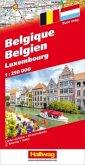 Hallwag Straßenkarte Belgien, Luxembourg; Belgique, Luxembourg; Belgie, Luxemburg; Belgium, Luxemburg