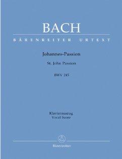 Johannespassion, BWV 245, Klavierauszug