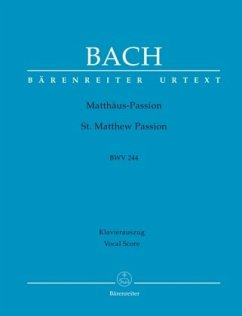 Matthäuspassion, BWV 244, Klavierauszug - Bach, Johann Sebastian