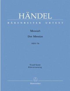 Der Messias HWV 56 (deutsch-englisch), KlavierauszugMessiah, Vocal score
