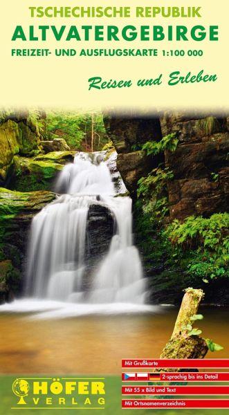 Höfer Freizeit- und Ausflugskarte Tschechische Republik, Altvatergebirge
