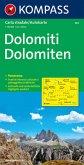 Kompass Karte Dolomiten; Dolomiti / Dolomites