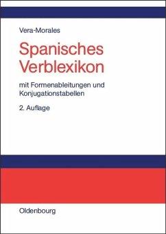 Spanisches Verblexikon - Vera Morales, José