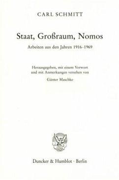 Staat, Großraum, Nomos - Schmitt, Carl