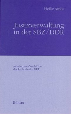 Justizverwaltung in der SBZ / DDR