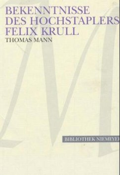 Bekenntnisse des Hochstaplers Felix Krull. Großdruck - Mann, Thomas