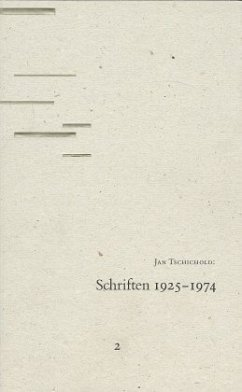 Schriften 1947- 1974 - Tschichold, Jan