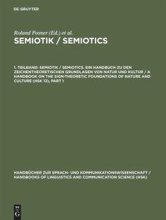 Semiotik / Semiotics. 1. Teilband