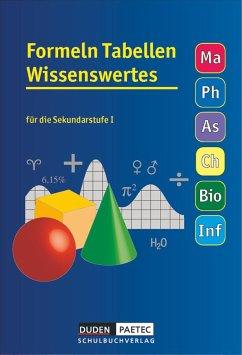 Formelsammlung 5.-10. Schuljahr Tabellen Wissenswertes - Bahro, Uwe; Becker, Frank-Michael; Engelmann, Lutz