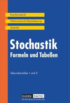 Stochastik, Formeln und Tabellen - Hrsg. v. Karlheinz Weber