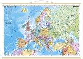 Stiefel Wandkarte Miniformat Staaten Europas, mit Holzstäben